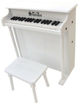 The Well Appointed House Schoenhut 37 Key Traditional Deluxe Spinet with Bench in White for Kids