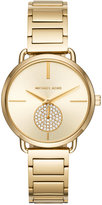 Michael Kors Women's Portia Gold-Tone Stainless Steel Bracelet Watch 36mm MK3639