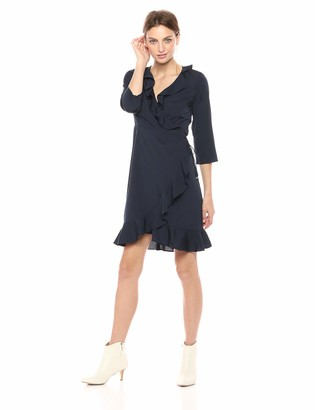 Vero Moda Women's Dolly 3/4 Sleeve Wrap Dress
