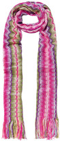 Missoni Metallic Crochet-knit Scarf - Pink