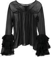 Thomas Wylde long sleeve sheer blouse