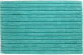 CB2 Vertical Stripe Aqua Bath Rug