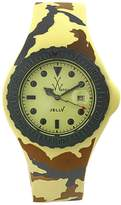 Toy Watch Women's JYA03SY Jelly Army Yellow Camo Rubber Watch