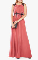 BCBGMAXAZRIA Stehla Lace-Blocked Jersey Gown