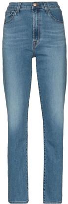 J Brand Teagan high-waist straight-leg jeans