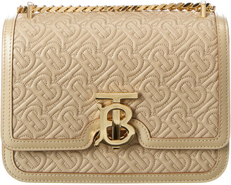 Burberry Monogram Leather Shoulder Bag