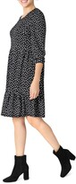 Thumbnail for your product : Sandra Darren Quarter Sleeve Textured Knit Tier A-Line Dress