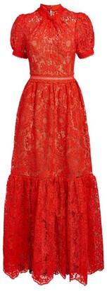 Self-Portrait Guipure Lace Maxi Gown