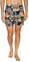 Vilebrequin Pineapple Print Moorea Swim Trunks