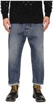 Vivienne Westwood Anglomania Samurai Crop Jeans in Blue Denim Men's Jeans