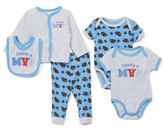 Sweet & Soft Boys' Infant Bodysuits Grey - Gray 'Daddy's MVP' Cardigan Set - Newborn & Infant