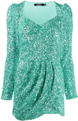 Amen Glitter Effect Mini Dress