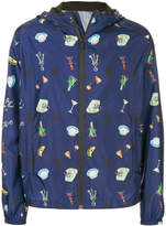 Fendi printed zipped jacket
