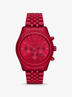 Michael Kors Oversized Lexington Red-Tone Watch