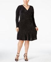MICHAEL Michael Kors Size Metallic Wrap Dress