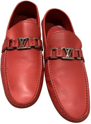 Louis Vuitton Monte Carlo Red Leather Flats