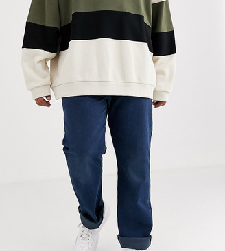 Levi's Big & Tall 501 original straight fit jeans in ironwood overdye dark wash
