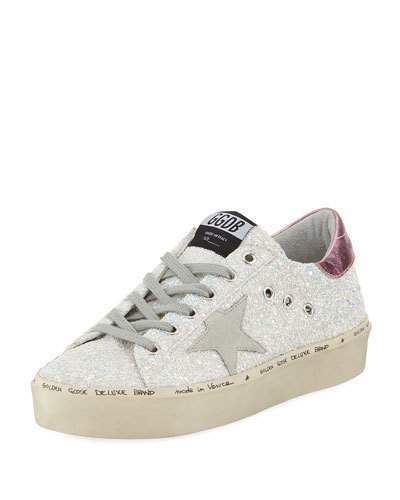 Golden Goose Hi Star Glitter Platform Sneaker