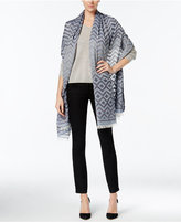 Echo Zigzag Jacquard Wrap & Scarf in One