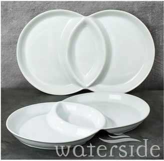 Waterside Set of Two 3-Section Serving Dish