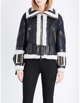 Burberry Cheshire leather biker jacket