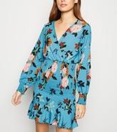 New Look Urban Bliss Floral Shirred Mini Dress