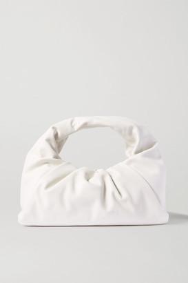 Bottega Veneta The Shoulder Pouch Gathered Leather Bag - White