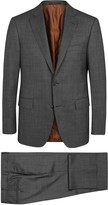 Pal Zileri Charcoal Checked Stretch Wool Suit