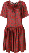 Hache patterned flared dress