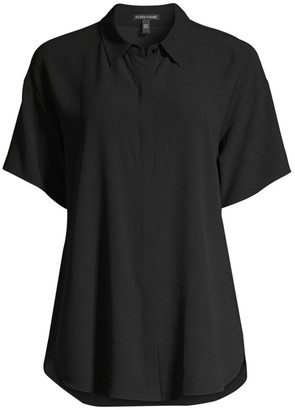 Eileen Fisher Silk Short-Sleeve Shirt