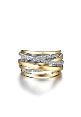 Lafonn Simulated Diamond Crossover Ring
