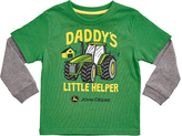 John Deere Green & Gray 'Daddy's Little Helper' Double-Layer Tee - Toddler