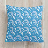 Minted Paper-Cut Flock of Birds Square Pillow