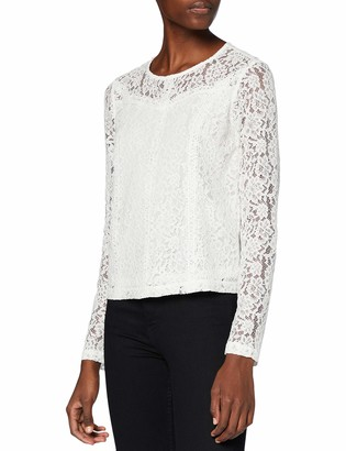 Only Women's ONLSNOWY LS LACE TOP WVN T-Shirt
