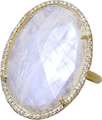 Irene Neuwirth Jewelry Rose Cut Rainbow Moonstone Ring