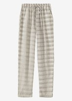 Toast Ikat Check Cotton Trouser