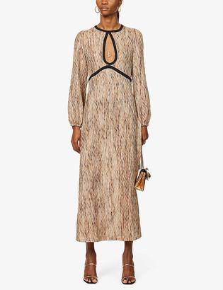 Rixo Iris crocheted woven midi dress