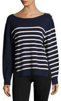 3.1 Phillip Lim Sailor Striped Cotton & Silk Pullover