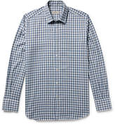 Canali - Checked Cotton-twill Shirt