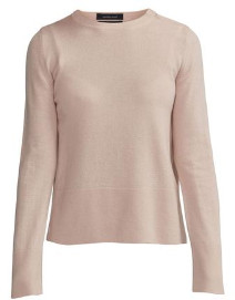 Holebrook - Faith Side Split Knitted Crew Neck Top - XS / Flamingo Pink