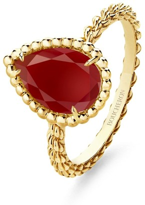 Boucheron Yellow Gold Carnelian Serpent Boheme Ring