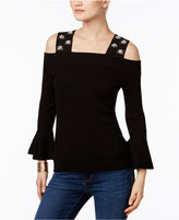 INC International Concepts Embellished Off-The-Shoulder Sweater, Only at Macy's