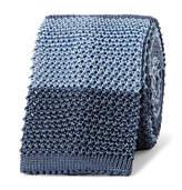 Boglioli - 6cm Striped Knitted Silk Tie