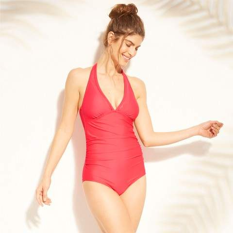 1efc39d245e Shirred One Piece Swimsuit - ShopStyle