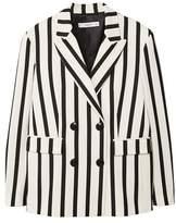 MANGO Striped suit blazer