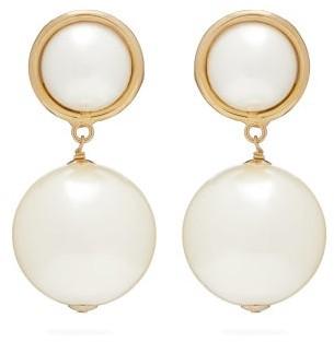 Rosantica By Michela Panero - Epica Faux Pearl Drop Clip Earrings - Womens - Pearl