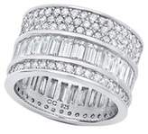 Crislu Vintage Collection Platinum Over Silver Cz Ring.