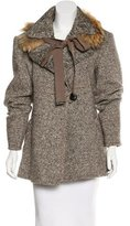 Gianfranco Ferre Fur-Trimmed Short Coat