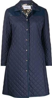 Salvatore Ferragamo Quilted Mid-Length Coat