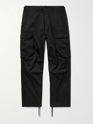 Neighborhood Cotton-Twill Cargo Trousers - Men - Black